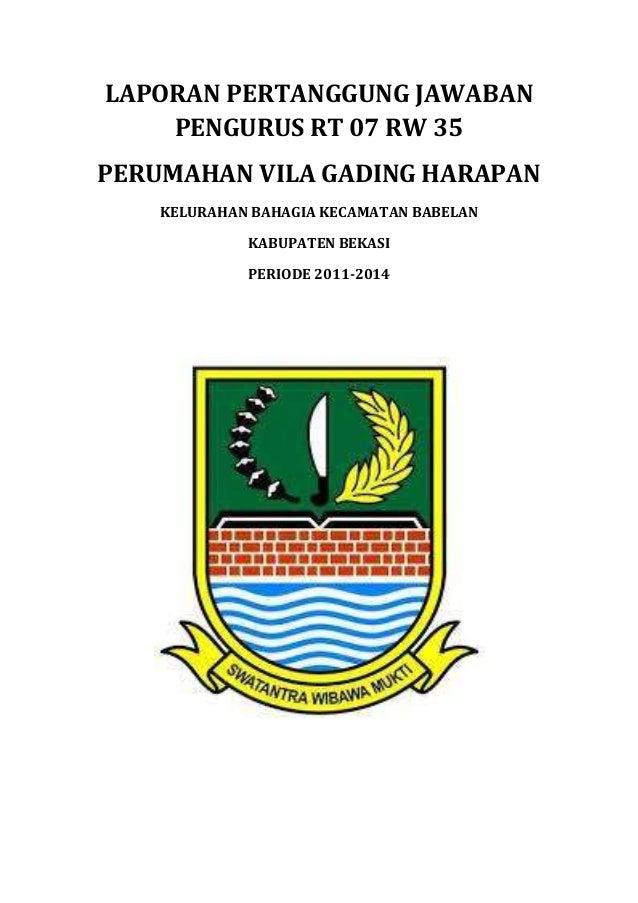 Laporan Pertanggung Jawaban Rt