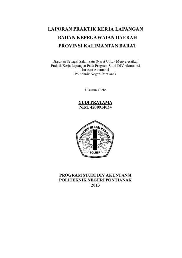 Contoh Laporan Pkl Akuntansi Di Kantor Dinas