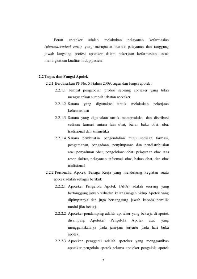 Laporan Pkl Apotek Kf 89 Smk Ma Arif Nu 2 Ajibarang
