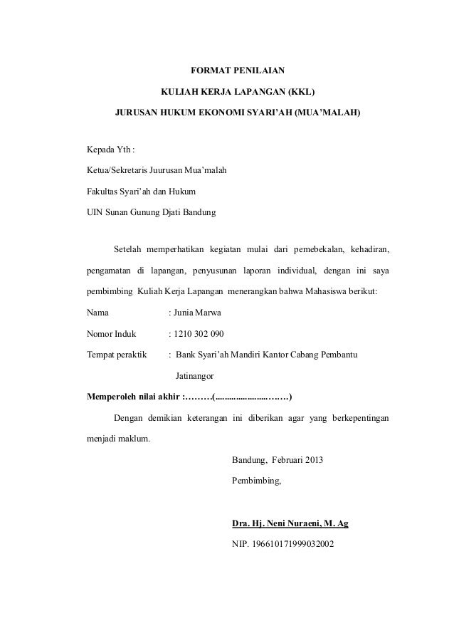 Contoh Laporan Pkl Hukum Perdata Gontoh