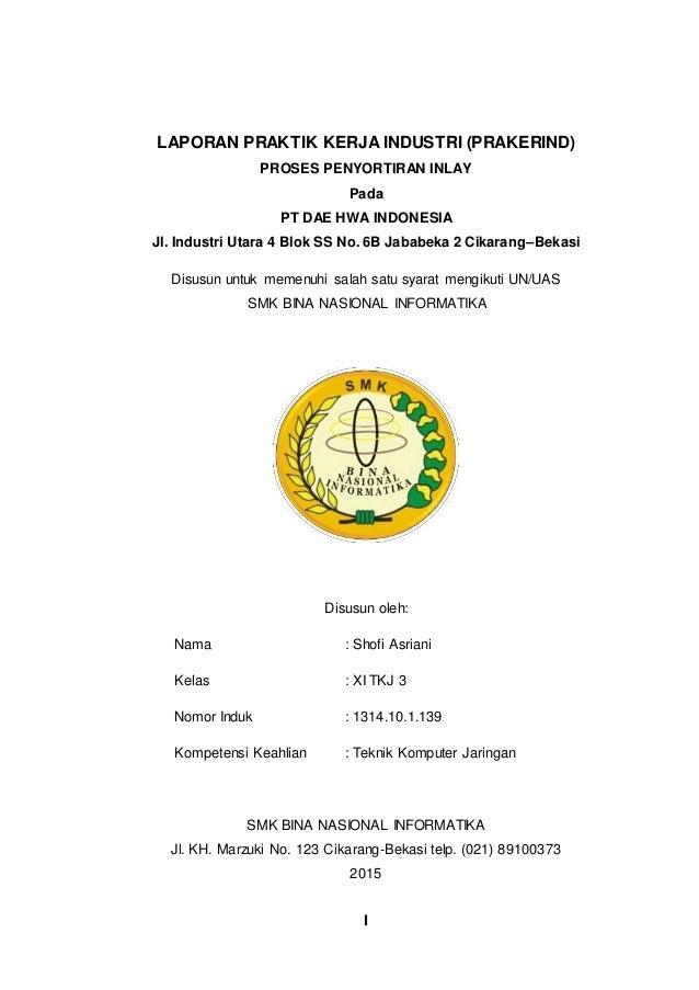 Contoh Laporan Pkl Di Pt Dae Hwa Indonesia Dhi