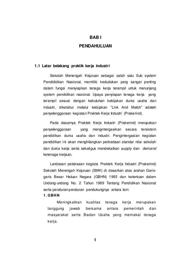 Contoh Laporan PKL di PT DAE HWA INDONESIA (DHI)