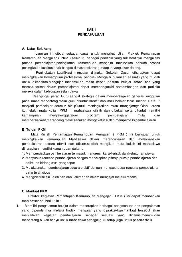 Contoh Laporan Pkm S1 Pg Paud Ut Kumpulan Contoh Laporan