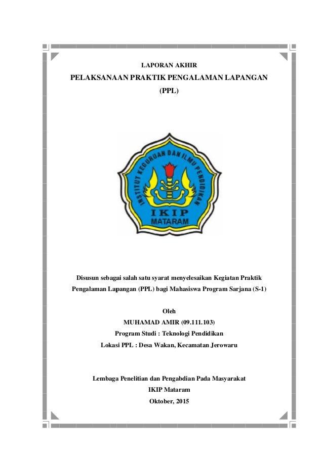 Contoh Laporan Ppl Kkn Ikip Mataram 2015