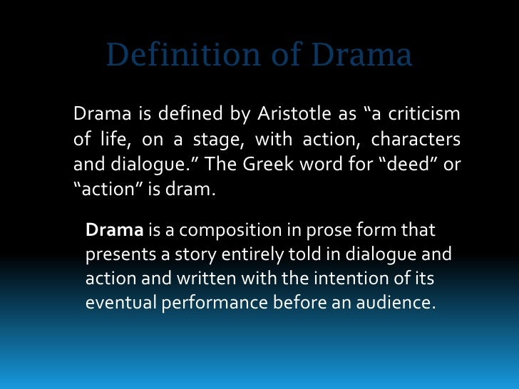 an introduction to the definition of a tragedy by aristotle According to aristotle (who speculates on the matter in his poetics), ancient  of  course this definition doesn't mean that the main character in a comedy has to.