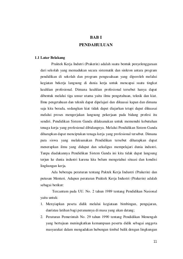 Contoh Laporan Prakerin Dalam Bahasa Inggris Beserta Artinya Kumpulan Contoh Laporan