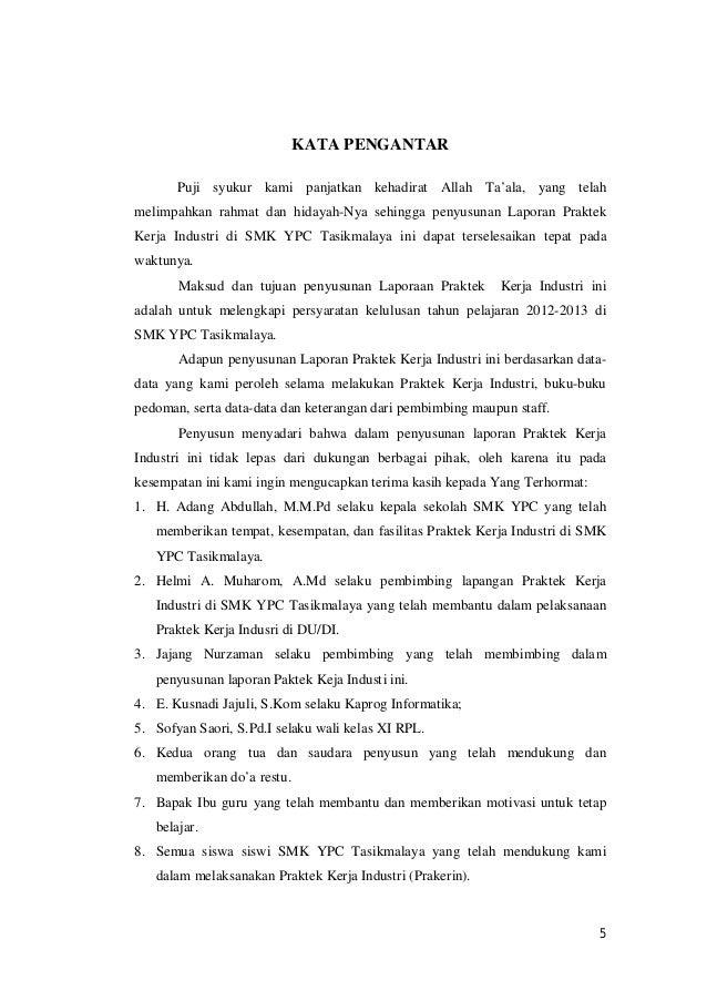 Contoh Laporan Pkl Smk Jurusan Rpl Kumpulan Contoh Laporan