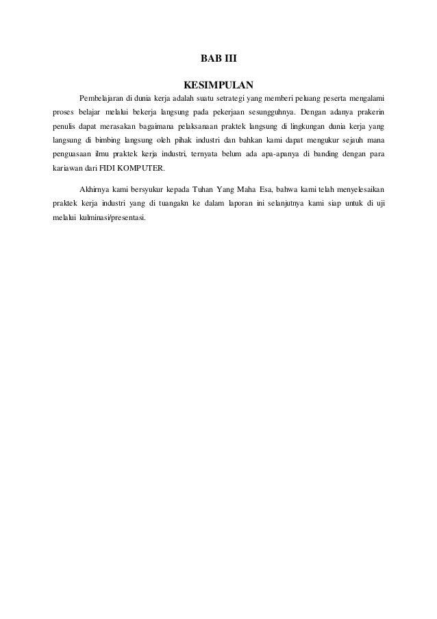 Contoh Pembatasan Masalah Laporan Prakerin Blogefeller