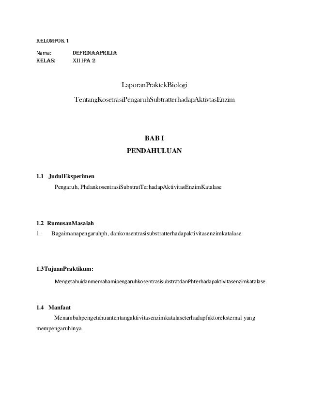 Kelompok 1Nama:         DefrinaApriliaKelas:        XII IPA 2                                LaporanPraktekBiologi        ...