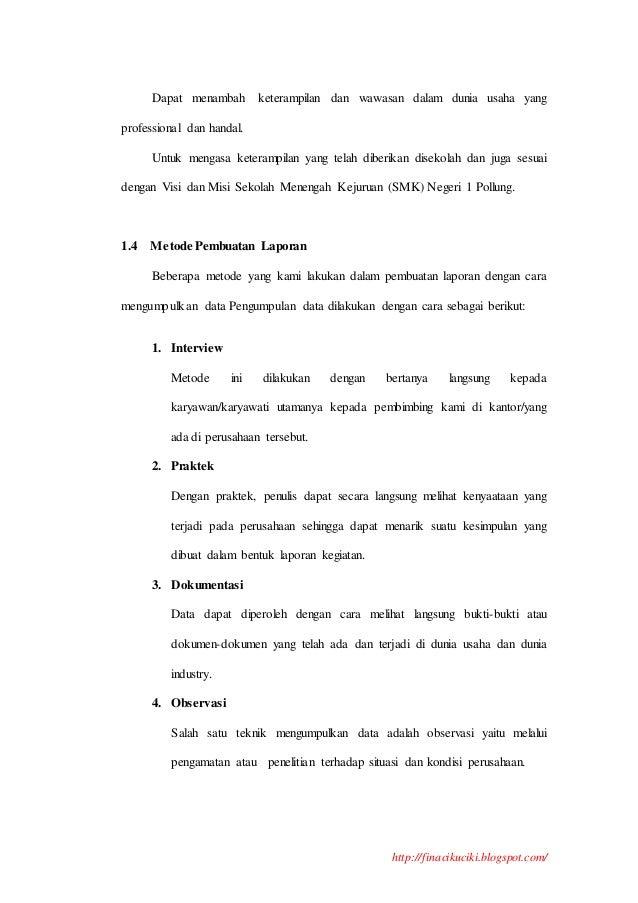 Contoh Makalah Prakerin Praktek Kerja Industri Contoh Laporan Prkatek Kerja Industri Prakerin