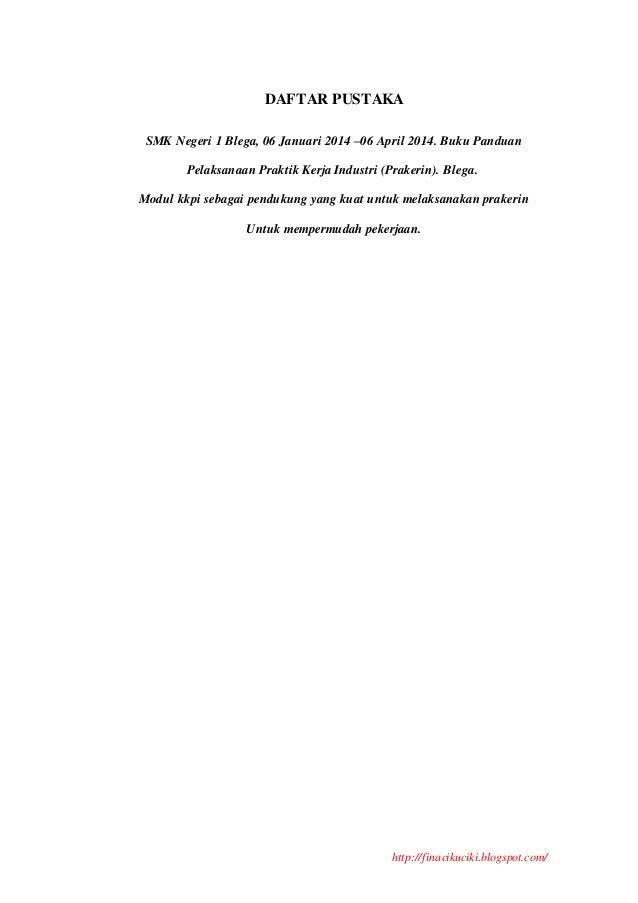 Contoh Laporan Prkatek Kerja Industri Prakerin Smk Tkj