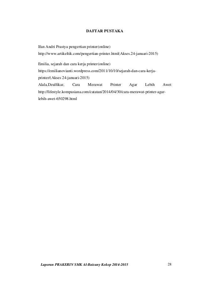 Laporan Praktek Kerja Industri Prakerin Smk Al Baisuny 2014 2015