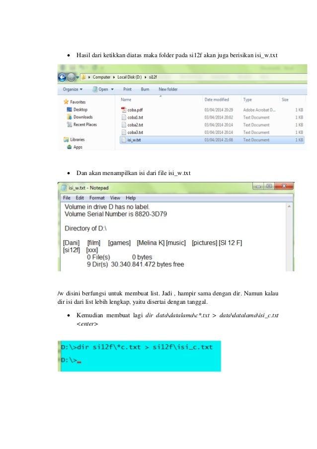 list of dos internal commands pdf