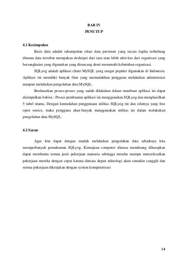 Laporan Praktikum Basis Data My Sql