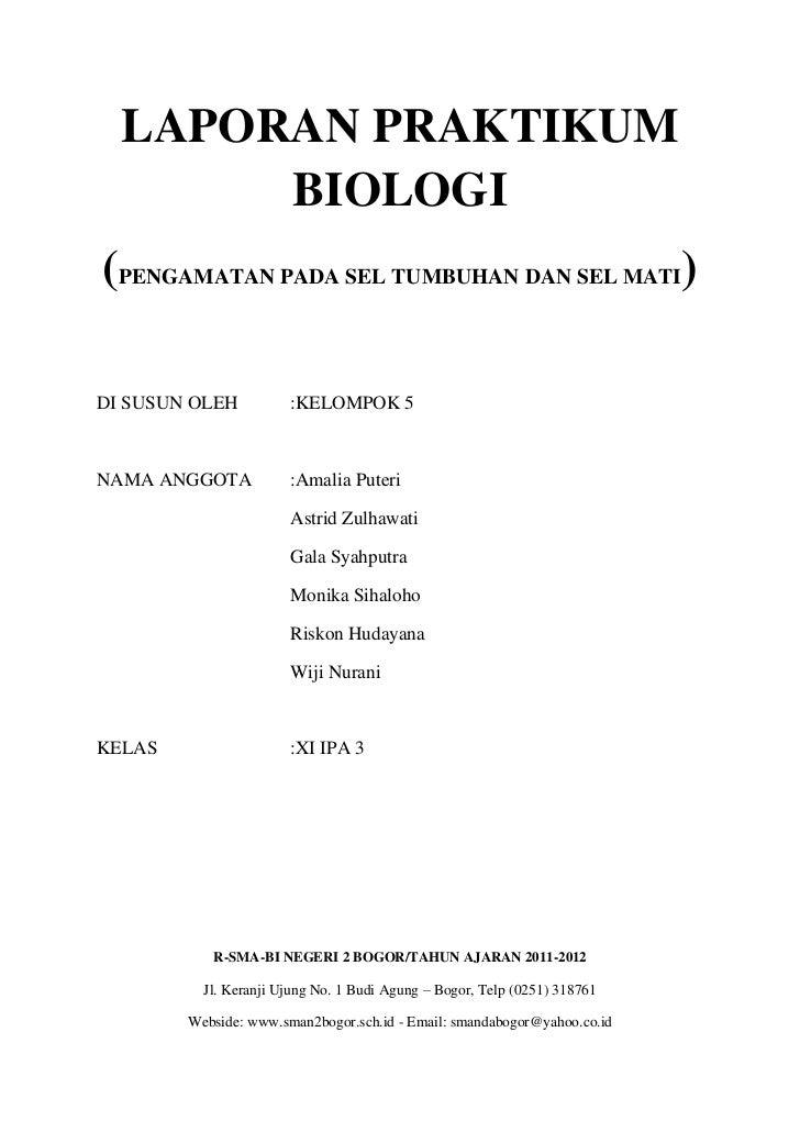 Laporan Praktikum Biologi