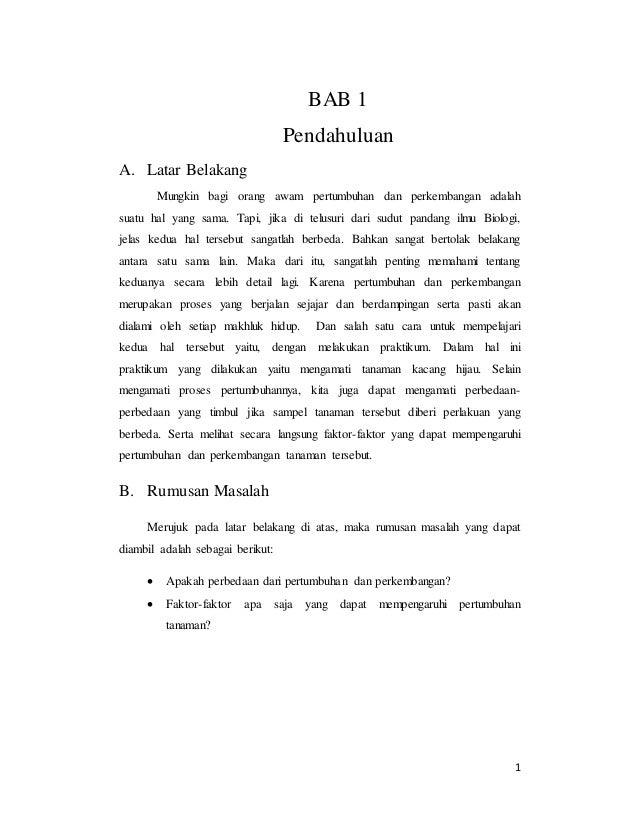 Laporan Praktikum Biologi Pertumbuhan Dan Perkembangan