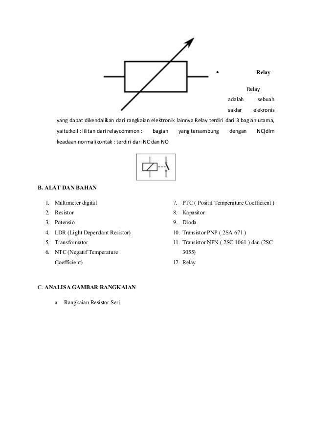Laporan Praktikum Elektronikadasari