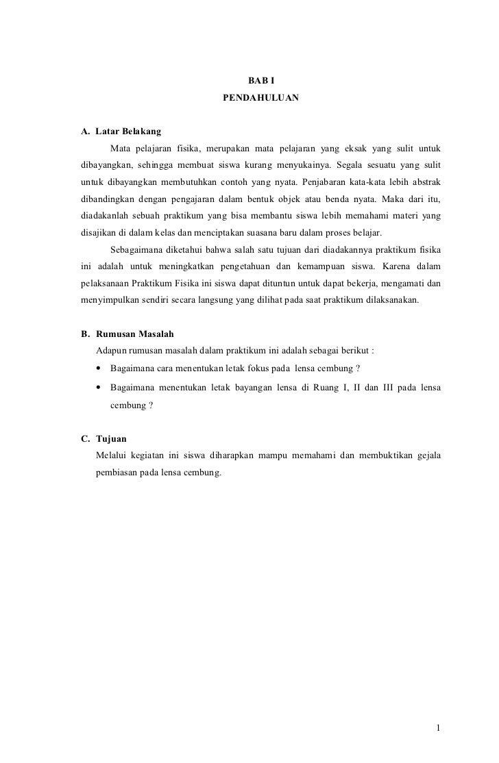 Contoh Latar Belakang Laporan Praktikum Fisika Kumpulan Contoh Laporan