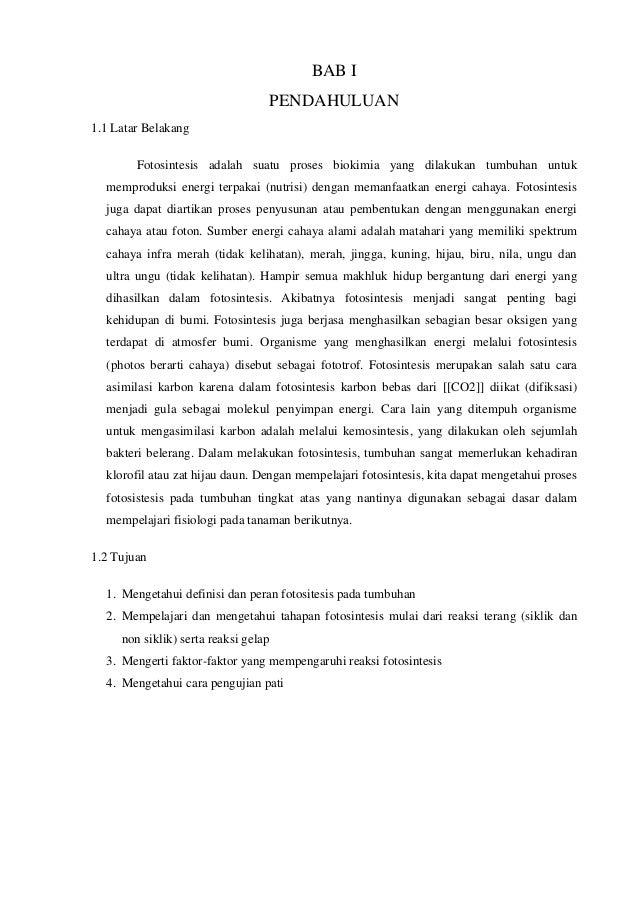 Laporan Praktikum Fotosintesis Fotosintesis