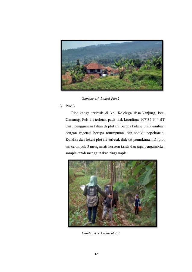 Laporan Praktikum Geografi Tanah Maryam