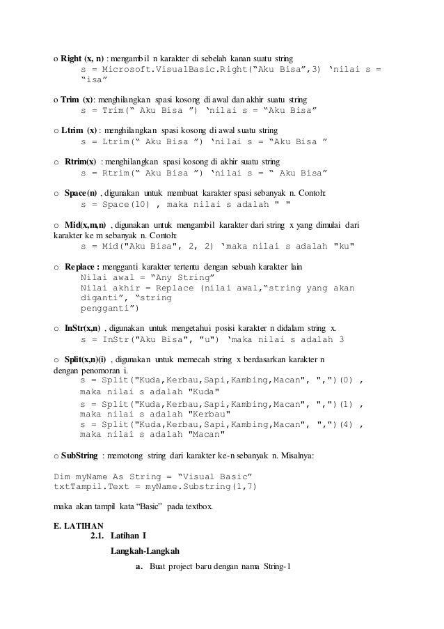 Laporan Praktikum Iii Visual Basic