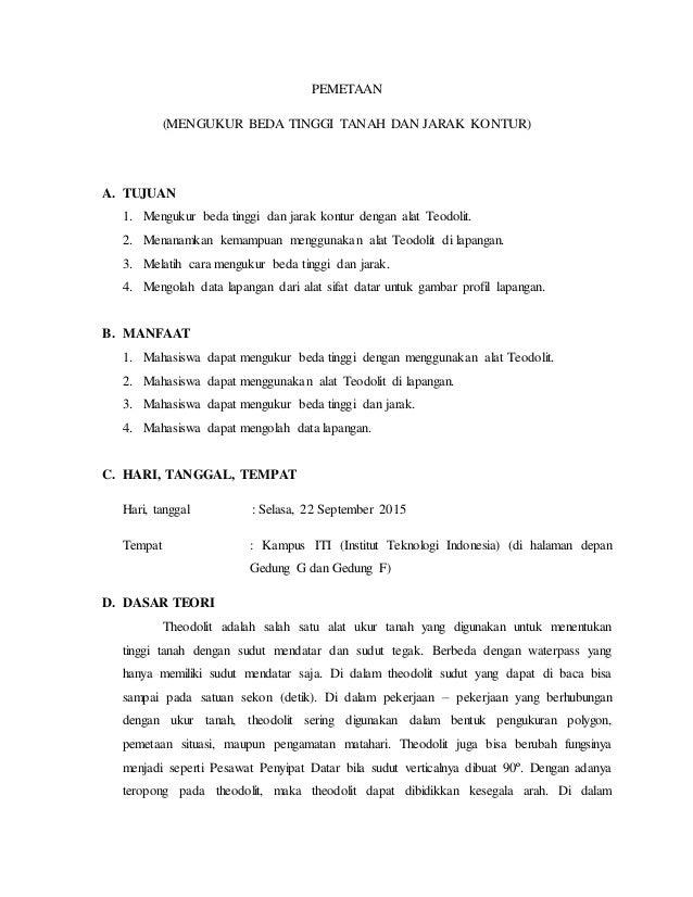 Laporan Praktikum Ilmu Ukur Tanah Theodolit
