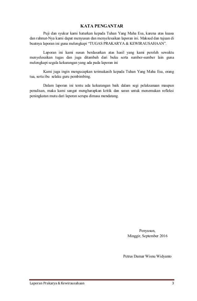 Contoh Laporan Prakarya Dan Kewirausahaan Ilmusosial Id