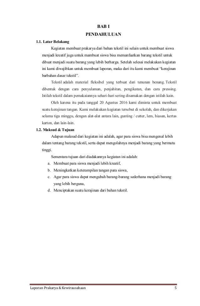Laporan Praktikum Kerajinan Tekstil