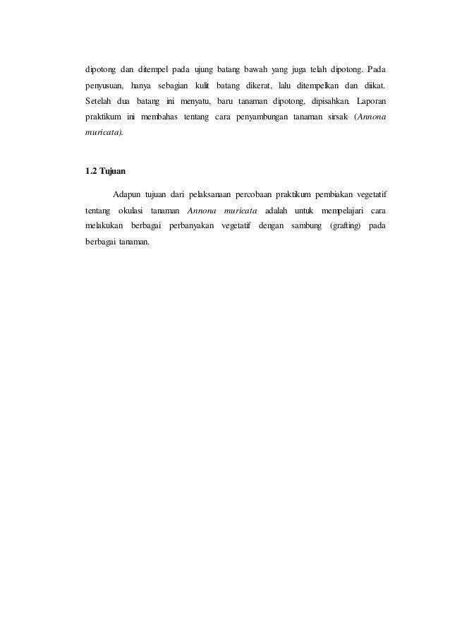 Laporan Praktikum Pembiakan Vegetatif Okulasi Grafting Dan Cangkok