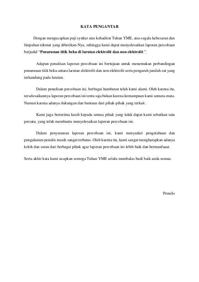 Praktikum Kimia - Penurunan Titik Beku Slide 2