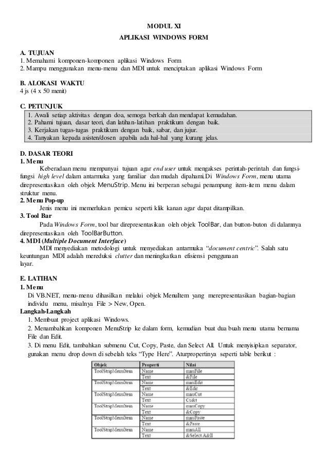Laporan Praktikum V Visual Basic