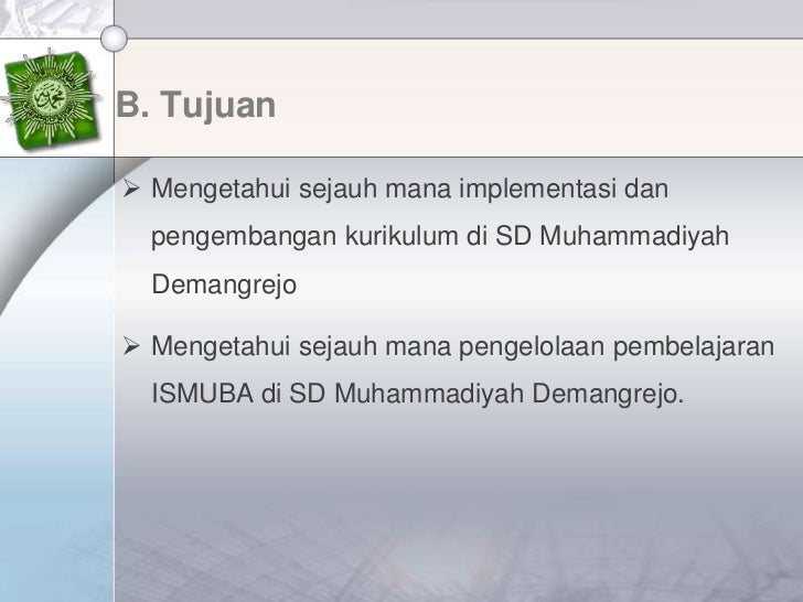 Laporan Presentasi OJL SD Muhammadiyah Demangrejo Slide 3
