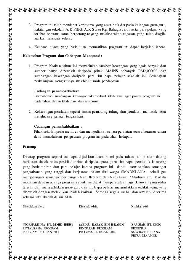 Laporan Program Korban 2014
