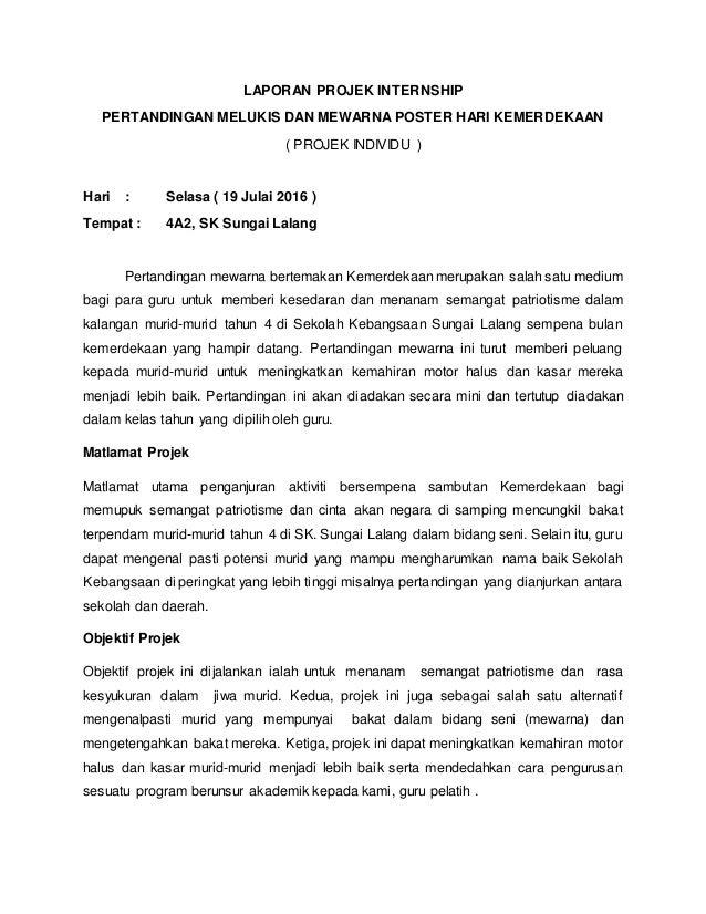 Laporan Projek Internship Pertandingan Melukis Dan Mewarna Poster Har