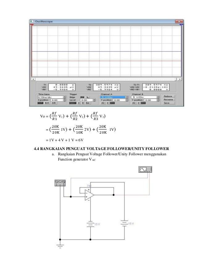 Laporan rangkaian dasar op amp penguat summing menggunakan vdc 10 ccuart Choice Image