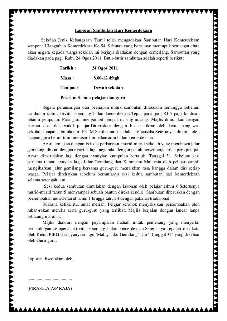 Contoh Karangan Laporan Bahasa Melayu Tingkatan 2 - Contoh O