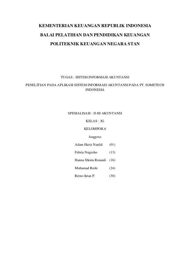 KEMENTERIAN KEUANGAN REPUBLIK INDONESIA BALAI PELATIHAN DAN PENDIDIKAN KEUANGAN POLITEKNIK KEUANGAN NEGARA STAN TUGAS : SI...