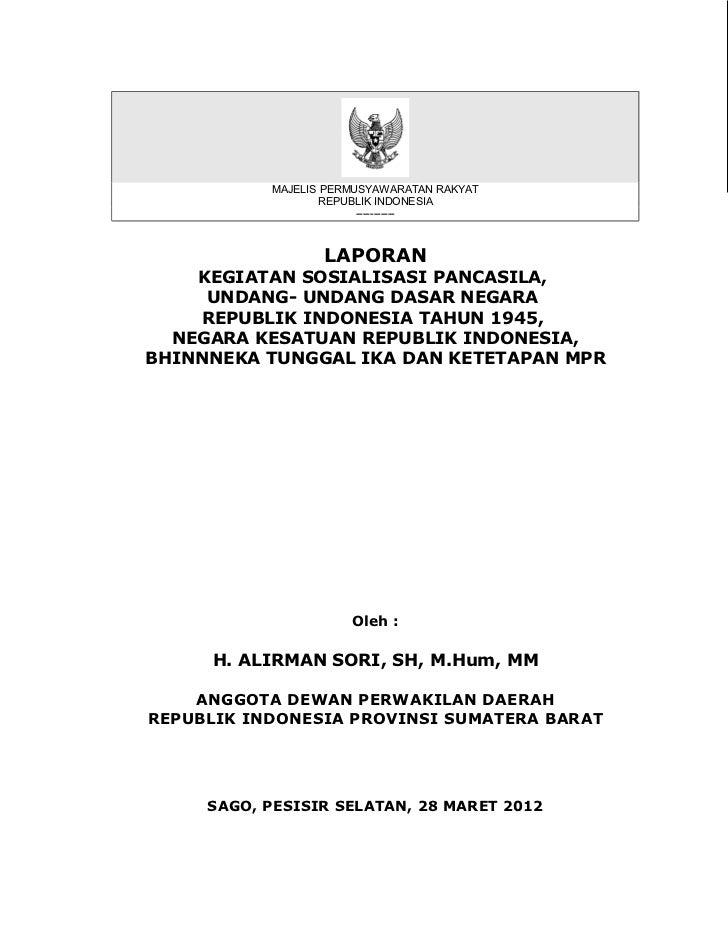 MAJELIS PERMUSYAWARATAN RAKYAT                   REPUBLIK INDONESIA                        -----------                  LA...
