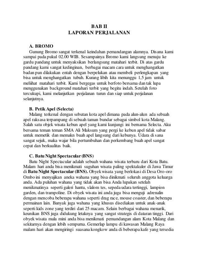 Contoh Laporan Study Tour Ke Malang Selecta Kumpulan Contoh Laporan