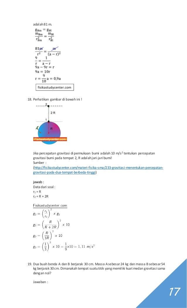 Soal Dan Pembahasan Fisika Gravitasi Kelas Xi