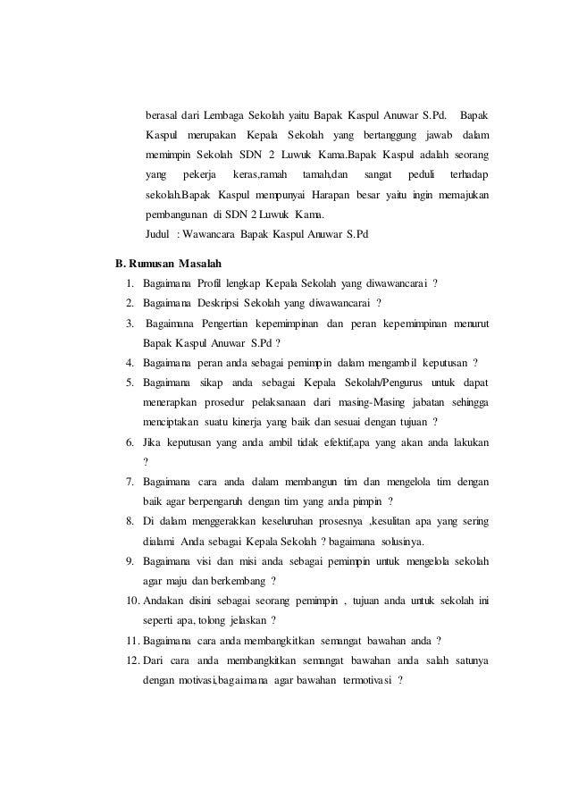Wawancara Dengan Pak Rt Tentang Kerja Bakti Info Seputar Kerjaan