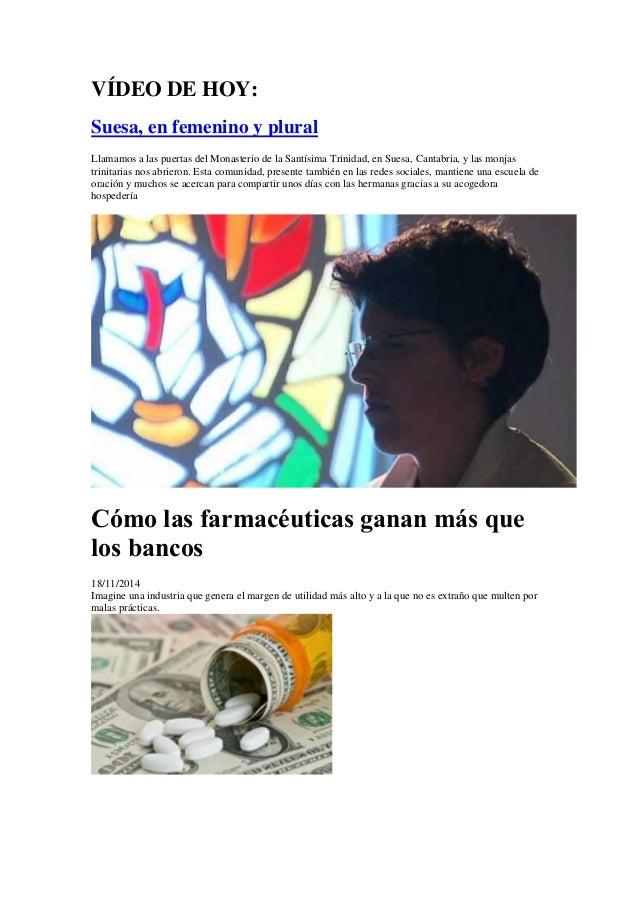 VÍDEO DE HOY:  Suesa, en femenino y plural  Llamamos a las puertas del Monasterio de la Santísima Trinidad, en Suesa, Cant...
