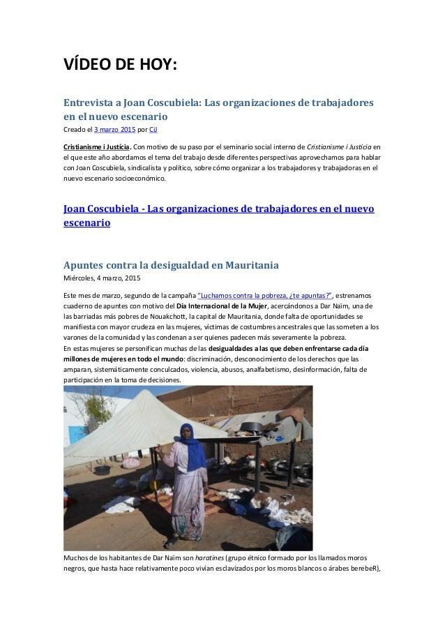 VÍDEO DE HOY: Entrevista a Joan Coscubiela: Las organizaciones de trabajadores en el nuevo escenario Creado el 3 marzo 201...