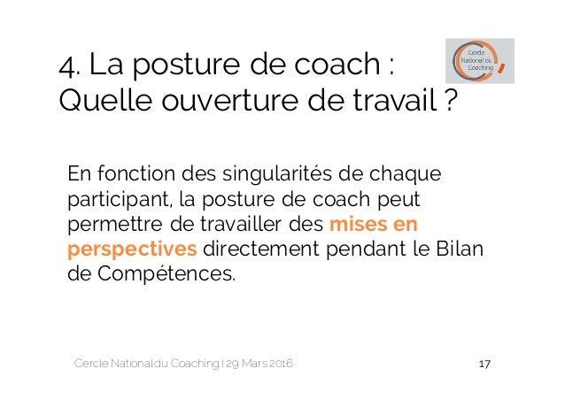 la posture de coach dans les bilans de competences