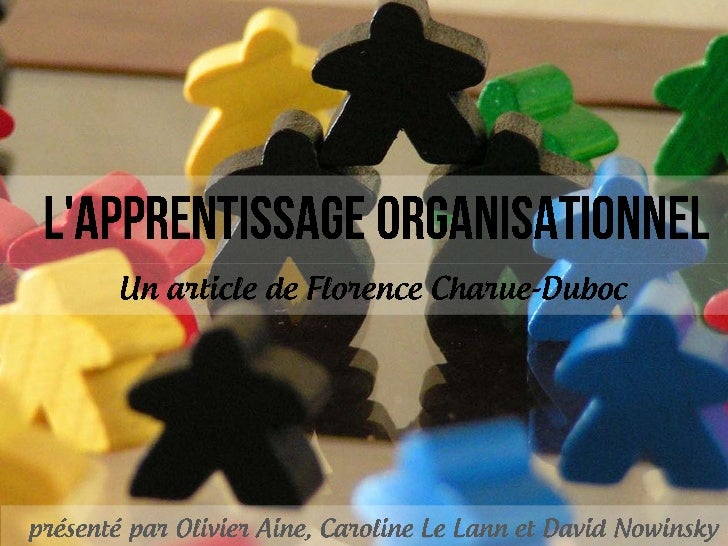 L'apprentissage organisationnel