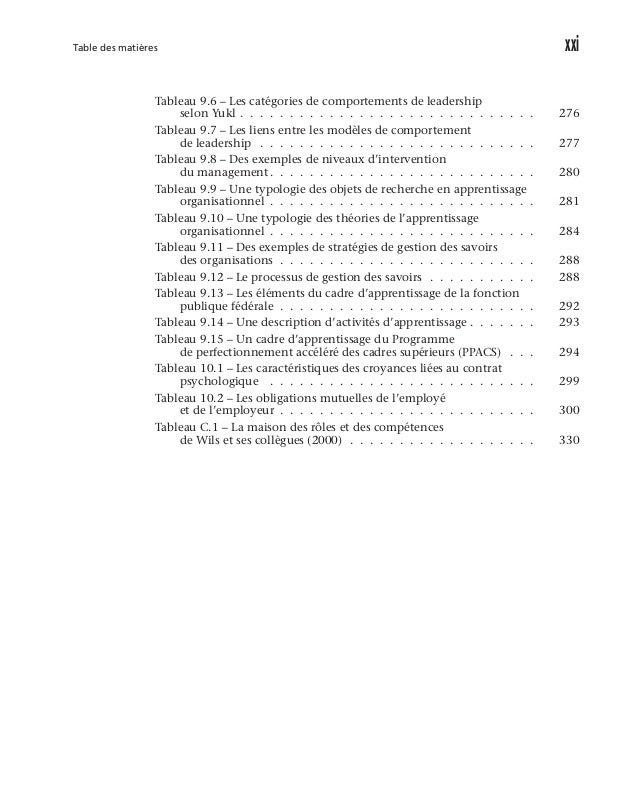 xxvi L'approche systémique de la gestion des ressources humaines Cas 7 Les ressources humaines: une priorité du gouvern...