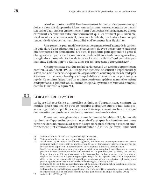 Boubaddara Youssef: L'approche systémique de la GRH