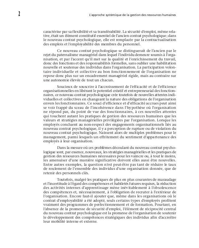 Introduction  de la gestion du contrat psychologique commence à émerger. La possibilité de transformer des promesses imp...