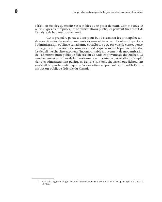 L'environnement de la gestion des ressources humaines des administrations publiques 15 des avantages sociaux liés aux ob...