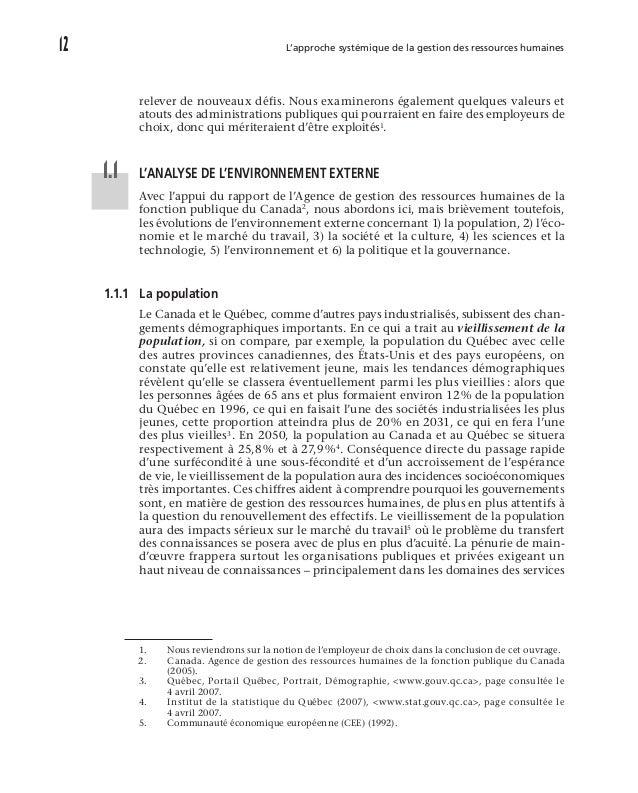 L'environnement de la gestion des ressources humaines des administrations publiques 17 leurs propres décisions dans le c...
